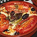 Petits gratins tomates et feta a la grecque