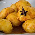 Pêches rôties au safran et au miel
