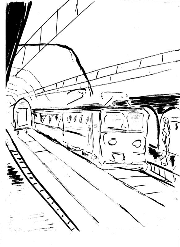 train en gare de Bucarest