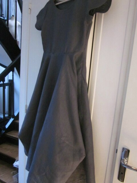 Robe EULALIE en lin gris anthracite - taille 38 (5)