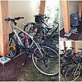 Aménagement d'un parc à vélos sous l'abri