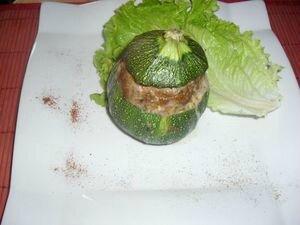 Courgette farcies à la kefta