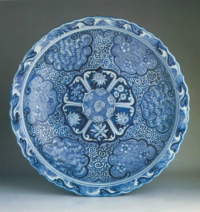 Blue and white charger, Yuan dynasty, in Regina Krahl, 'Chinese Ceramics in the Topkapi Saray Museum, Istanbul', ed. John Ayers, London, 1986, vol. 2, no. 552. © Topkapi Saray Museum, Istanbul.