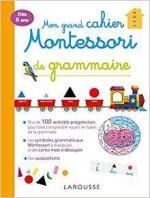 Mon grand cahier Montessori de grammaire couv