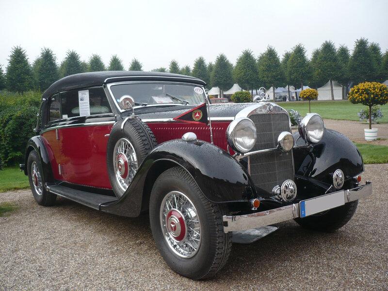 MERCEDES 290 W18 cabriolet B 1936 Schwetzingen (1)