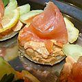 Blinis au saumon fumé