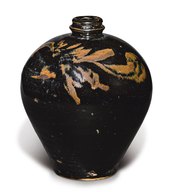 A black-glazed russet-painted jar, Northern Song-Jin dynasty (960-1234)