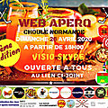 Invitation pour un webapero normand, le 26 avril 2020: la fierté normande ne se confine pas!