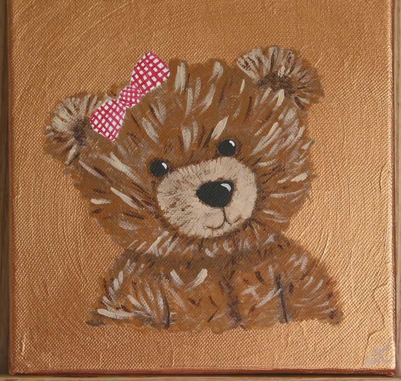 Ours bronze 20x20cm