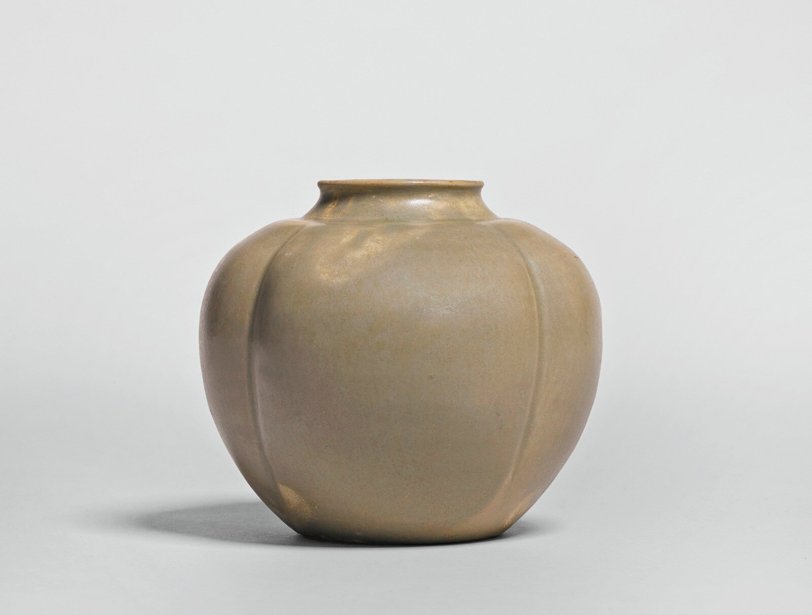 A 'Yue' melon-form jar, Tang dynasty (618-907)
