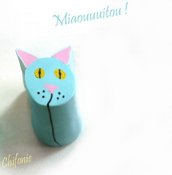 Blue cat cane_Canne chat bleu
