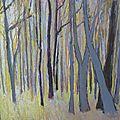 Lumière de novembre à Brocéliande, 2012, pastel à l'huile, 47 x 32 cm, 490 euros.