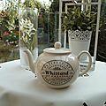 Retour de brocantes : my english tea-pot.