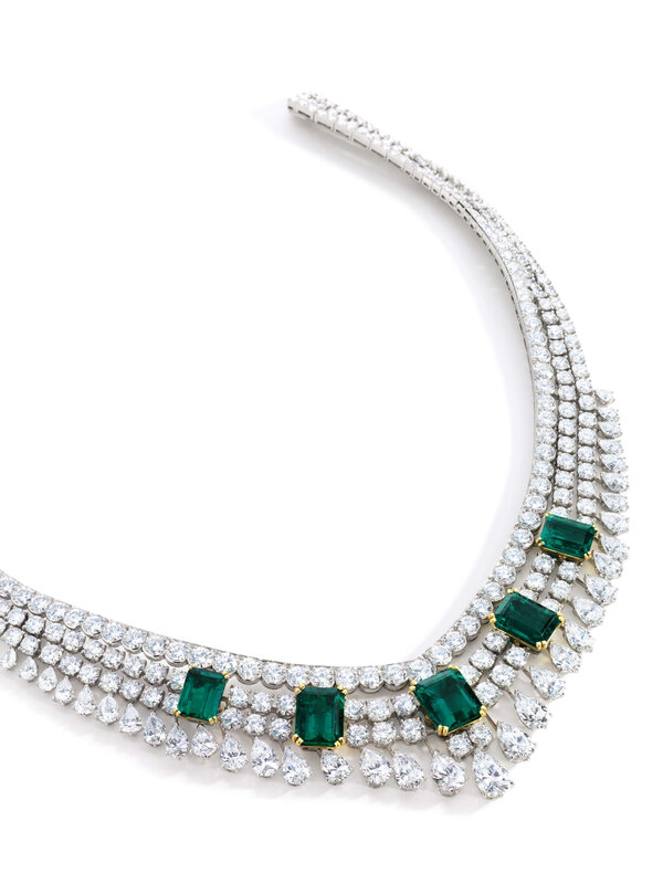 Lot 1718, Van Cleef & Arpels, Colombian Emerald and Diamond Necklace, 'Toscane' (2)