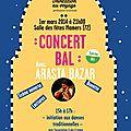 Concert bal arasta bazar le 1er mars à mamers