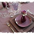 Table violette 039