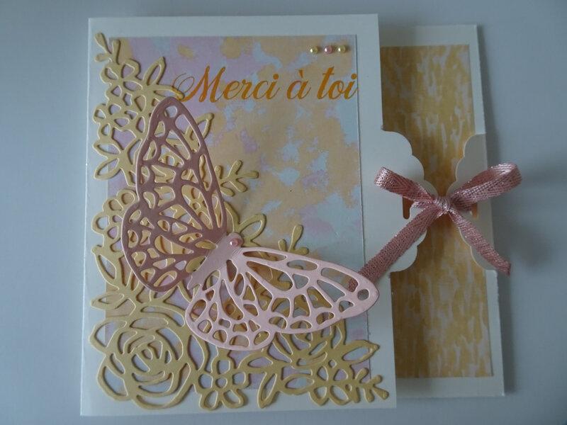30b Carte fleur et papillon pour Martine D