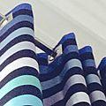 Rideaux doublés sonia rykiel avec oeillets carrés inox brossé