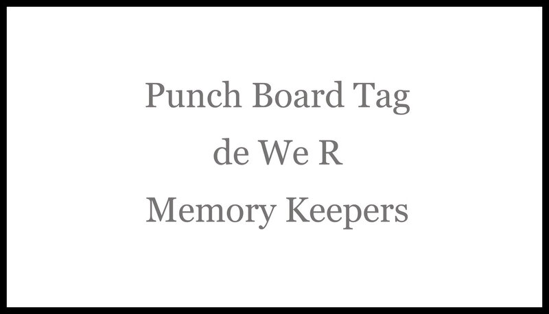 Ecran Punch board tag