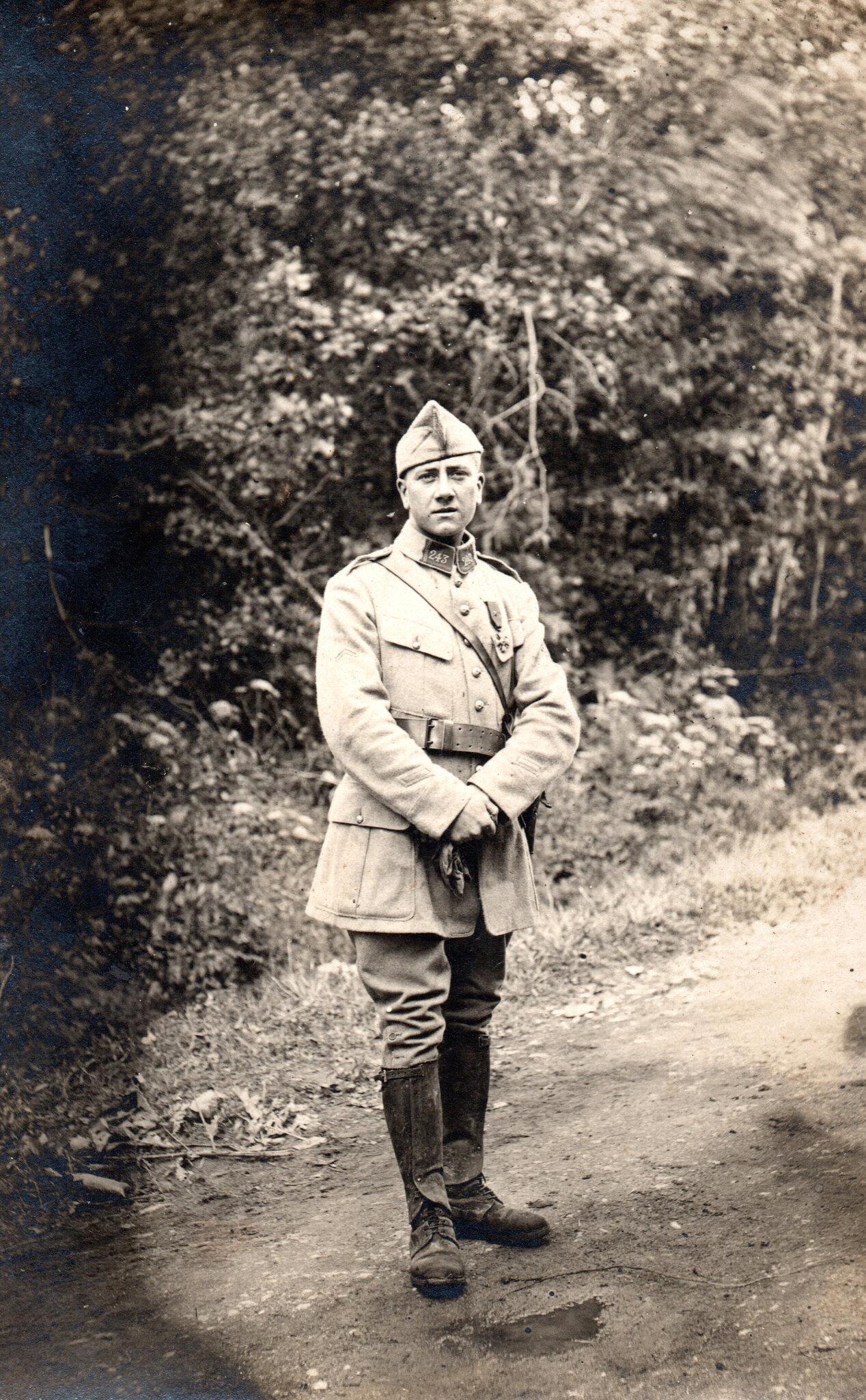 Haut-Rhin, août 1918, caporal du 243e RAC