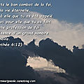 1timothée 6:12 - verset d'or pur - 30/43
