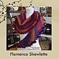 Flamenco shawlette - boutique de noël (suite)