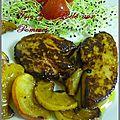 Foie gras poêlé au pommes et a l'armagnac