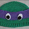 Roselaine bonnet tortue ninja 1