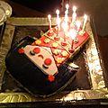Gâteau d'anniversaire kokeshi