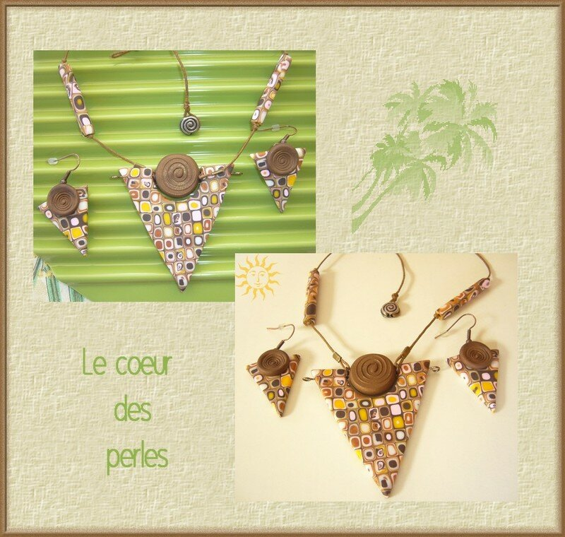 collier mosaîque clay gun