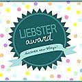 ~ tag et liebster award ~