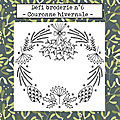 Défi broderie n°6: couronne hivernale