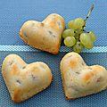 Gâteaux légers et moelleux aux raisins blancs et fromage frais