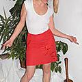 jupe asiatique rouge