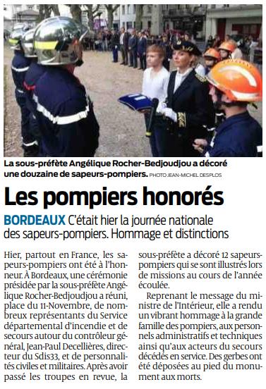 2019 06 16 SO Bordeaux les pompiers honorés
