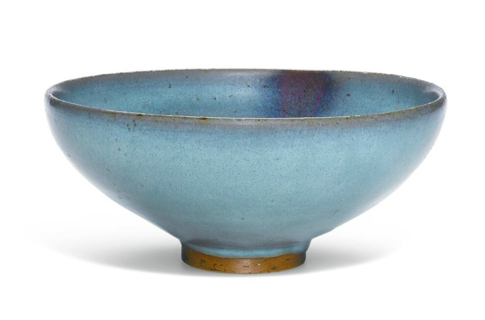A 'Jun' purple-splashed bowl, Yuan dynasty