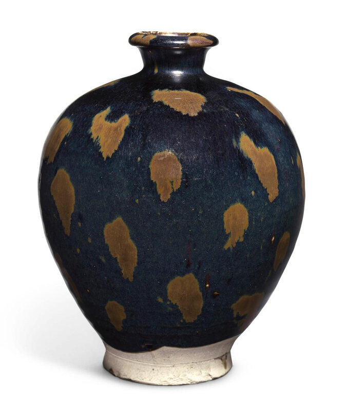 A russet-splashed black-glazed meiping, Northern Song dynasty (960-1127)