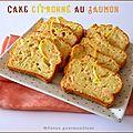Cake citronné au saumon