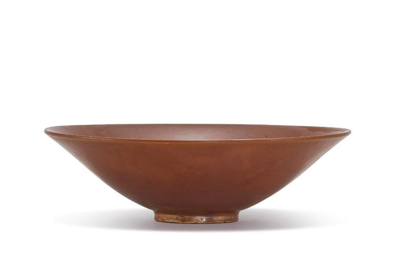 A 'Yaozhou' persimmon-glazed conical bowl, Northern Song Dynasty (960-1127)
