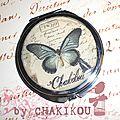 Miroir romantique papillon