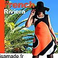 Robe orange Pop Trapèze rayure créateur originale fantaisie ISAmade