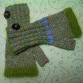 mitaines pour Salidou (laines Rowan)