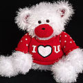 Valentine bear cub and sweater - lorraine pistorio
