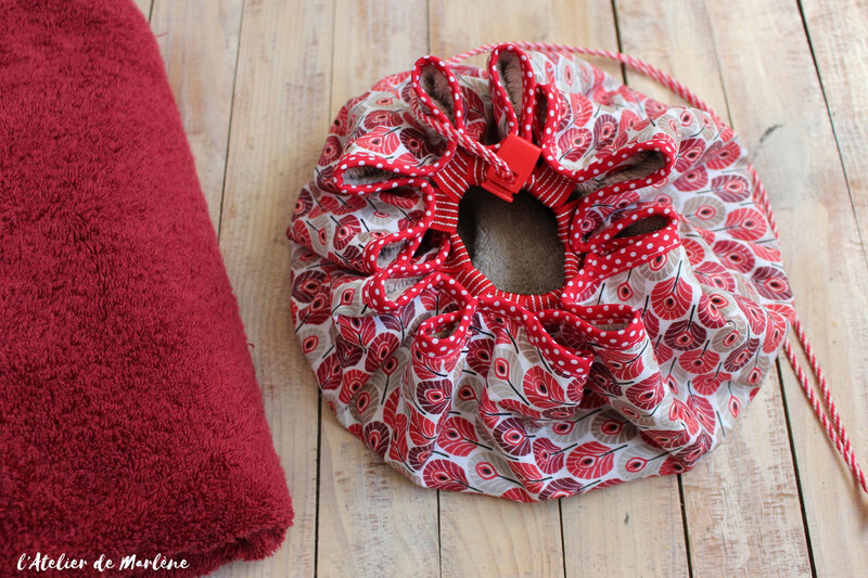 sac tapis pieds au sec rouge