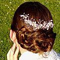 Peigne à cheveux mariage rose gold critaux swarovski