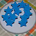 Bouton pression Kam : étoile bleu