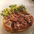 Bruschetta au jambon de parme et poivrons grillés