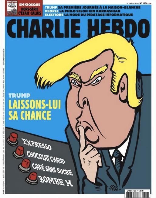 investiture de Donald Trump, 45ème président des USA ce vendredi 20 janvier 2017 • via Charlie Hebdo