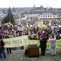 4000 opposants à la ligne tht défilent à mortain ce samedi 31 janvier 2009