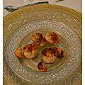 Repas de fêtes St Jacques poêlées balsamique